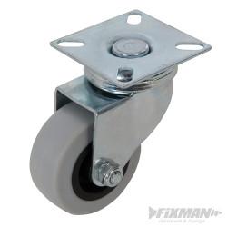 Roulette pivotante caoutchouc 50 mm 50 kg