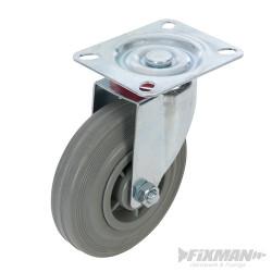 Roulette pivotante caoutchouc 125 mm 100 kg