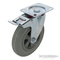 Roulette pivotante caoutchouc 200 mm 200 kg
