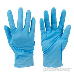 100 gants nitrile non-poudrés jetables Bleu Extra large