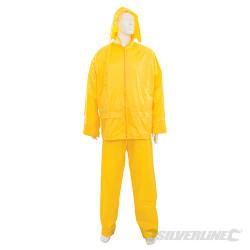 Tenue imperméable jaune, 2 pcs M 72 - 126 cm