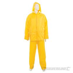Tenue imperméable jaune 2 pcs XL 76 - 134 cm