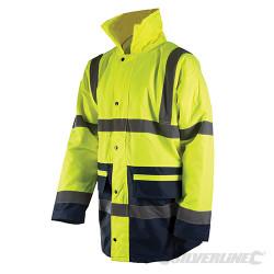 Manteau haute visibilité classe 3, bicolore XL 108-116cm (42-46