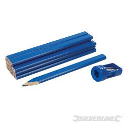 Ensemble de crayons de menuisier et taille-crayon 13 pcs 13 pcs